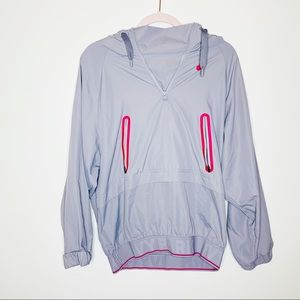 Ivy Park Gray Perforated Panel Jacket Size XS